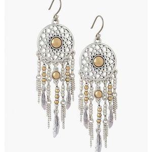 Lucky Brand dream catcher earrings